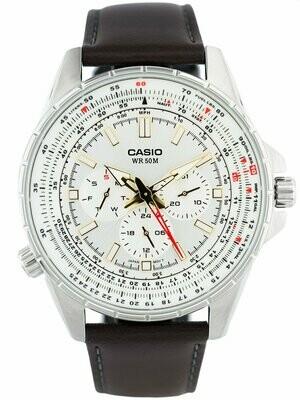 Reloj analógico caballero Casio mtp-sw320L-7av correa de piel