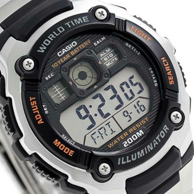 Reloj Casio digital Casio AE-2000WD-1AV