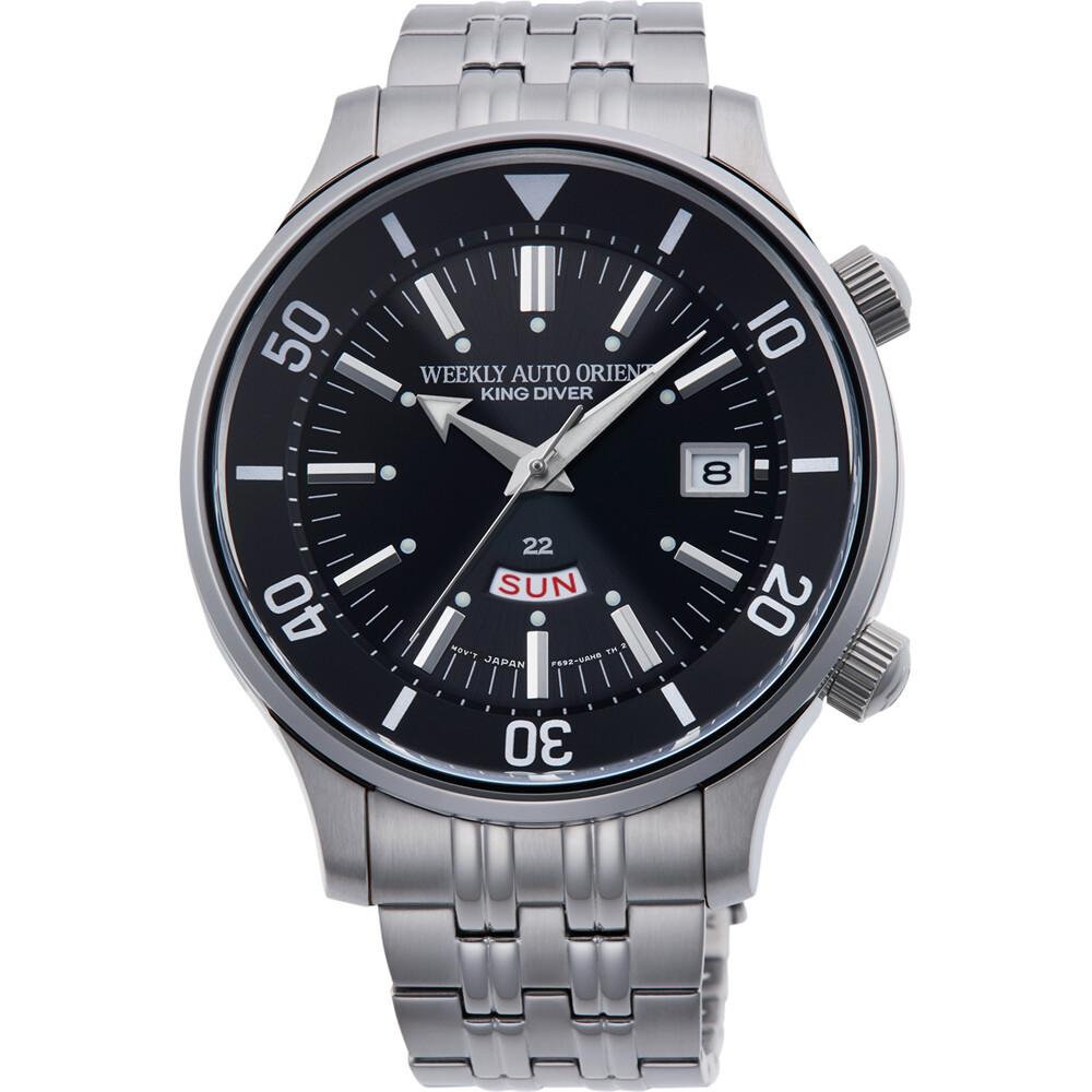 Reloj Automático Hombre ORIENT WEEKLY AUTO KING DIVER RA-AA0D01B dial negro acero