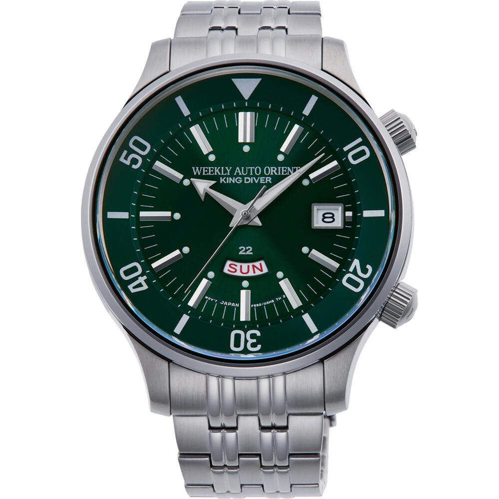 Reloj Automático Hombre ORIENT WEEKLY AUTO KING DIVER RA-AA0D03E dial verde acero