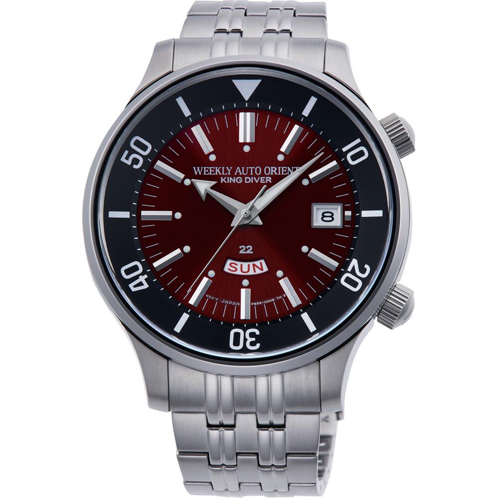Reloj Automático Hombre ORIENT WEEKLY AUTO KING DIVER RA-AA0D02R dial rojo acero