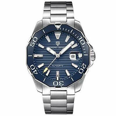 Reloj Pagani Design pd1617 hombre automático luminoso calendario color azul