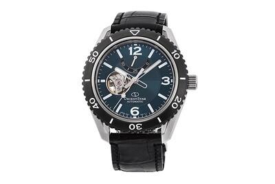 Reloj automático hombre Orient Star RE-AT0104E dial verde correa cuero cristal zafiro anti-reflejos
