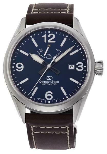 Reloj automático hombre Orient Star Outdoor Collection RE-AU0204L dial azul correa cuero cristal zafiro anti-reflejo