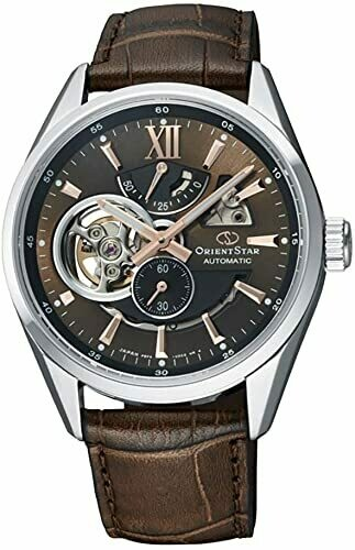 Reloj automático hombre Orient Star RE-AV0006Y 50h Power Reserve Cristal Zafiro anti-reflejo correa cuero
