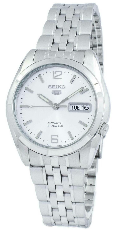 Reloj automático hombre Seiko 5 SNK385K1 dial plata correa acero 37mm