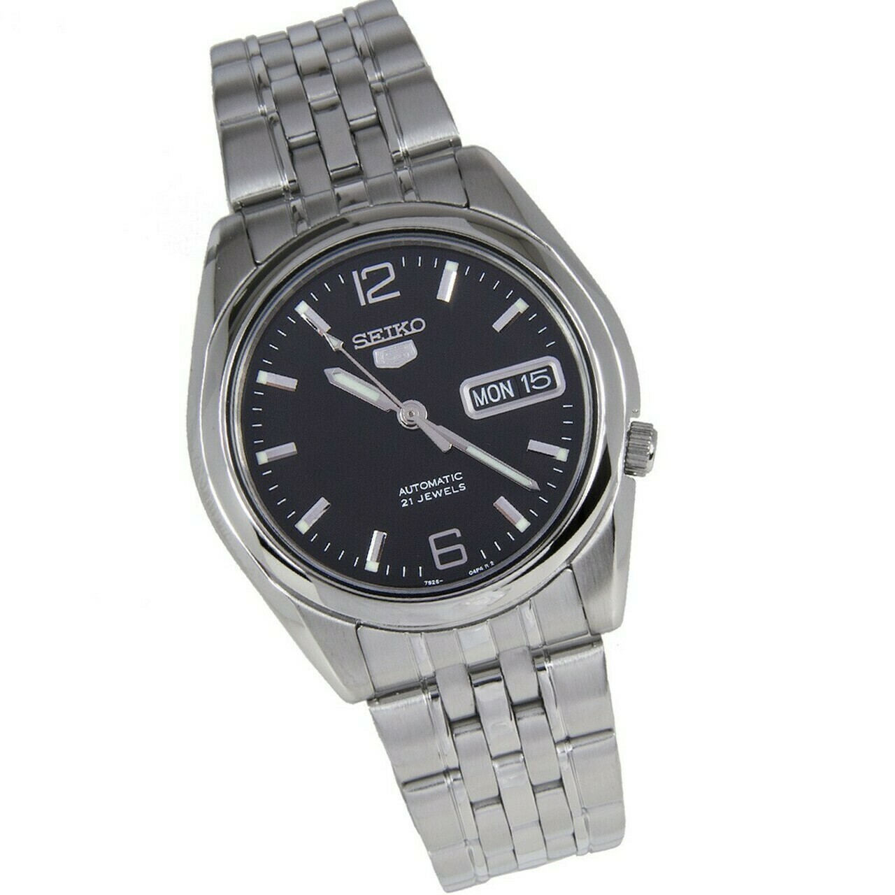 Reloj Automático hombre Seiko 5 SNKL23K1 38mm dial negro correa acero inoxidable