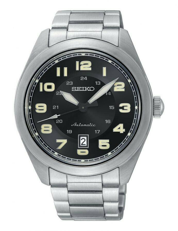 Reloj automático hombre Seiko 5 INFANTRY Neo Sports SRPC85K1 43mm Dial negro correa acero inoxidable