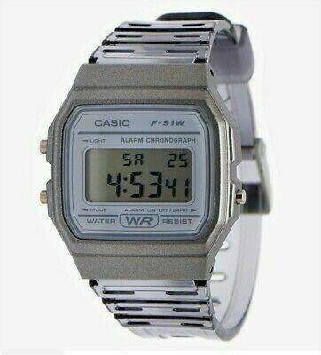 Reloj Clásico Casio F91WS-8 gris correa resina 7 años batería alarma cronómetro