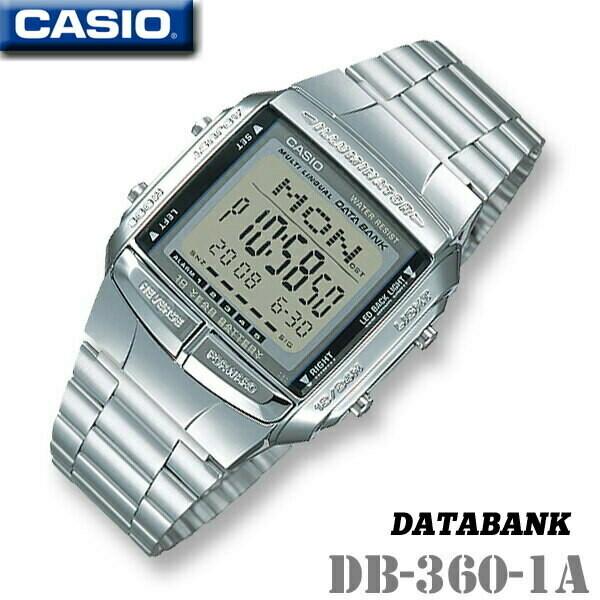 reloj hombre mujer Casio Databank DB-360-1A Correa acero telememo 30 10 años batería