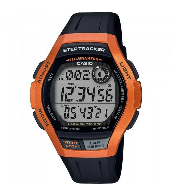 Reloj deportivo Casio WS-2000H-4A cuentapasos Lap Memory 200 5 alarmas correa resina