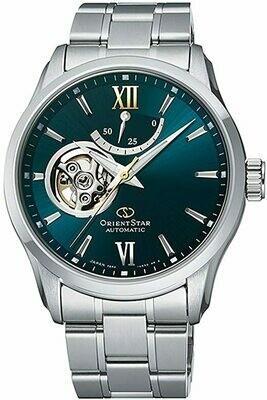 Reloj automático hombre Orient Star RE-AT0002E dial verde acero inoxidable cristal zafiro revestimiento anti-reflejos