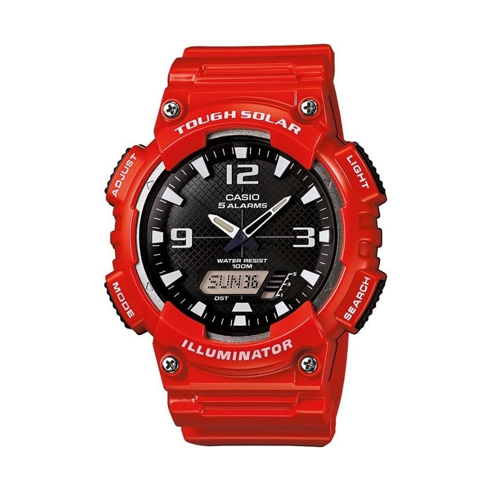 Reloj deportivo hombre SOLAR Casio Sport Solar AQ-S810WC-4AV correa goma dial negro