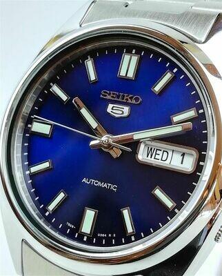Reloj Automático Hombre Seiko 5 SNXS77K1 dial azul acero