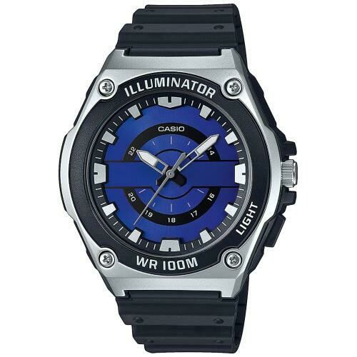 Reloj deportivo hombre Casio MWC-100H-2A2V Dial azul caja plateada