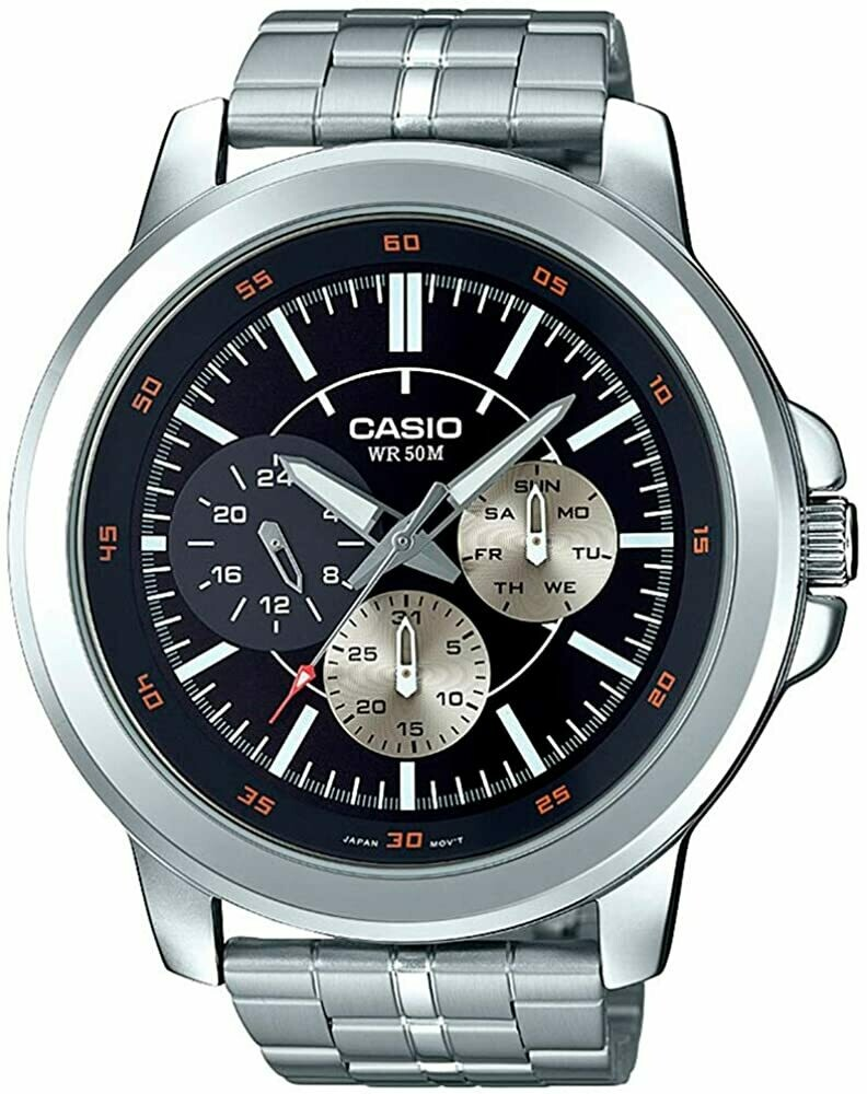 Reloj hombre deportivo Casio mtp-x300d-1ev multidial 50m resistente al agua
