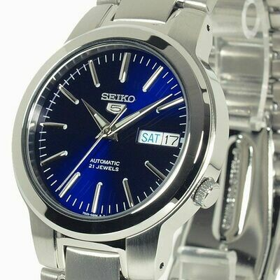 Reloj Automático hombre Seiko 5 SNKA05K1 dial azul 37mm correa acero