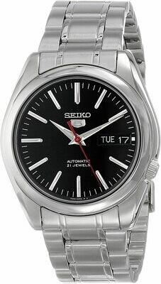 Reloj automático hombre Seiko 5 SNKL45K1 dial negro 38mm correa acero