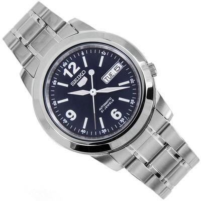 Reloj automático hombre Seiko 5 SNKE61K1 dial azul 37mm correa acero