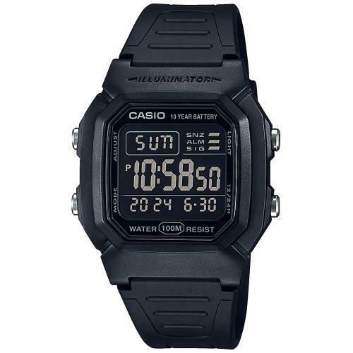 Reloj digital hombre Casio W800H-1B 10 años batería correa goma luz led