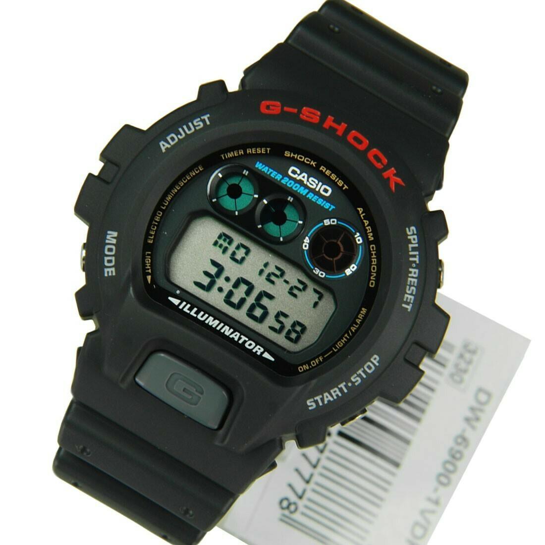 Reloj hombre Casio g-shock dw-6900-1v cronografo multifuncion - antigolpes