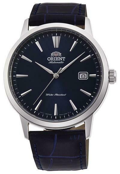 Reloj Automático hombre Orient Bambino Simphony RA-AC0F06L dial azul correa cuero