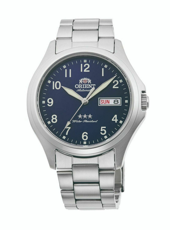 Reloj automático hombre Orient Tristar RA-AB0F14L dial azul correa acero