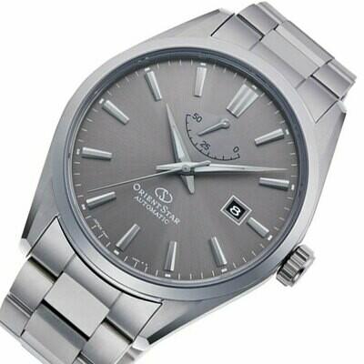 Reloj automático hombre Orient Star RE-AU0404N Cristal zafiro dial gris correa acero