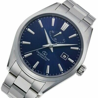 Reloj automático hombre Orient Star RE-AU0403L dial azul cristal zafiro correa acero