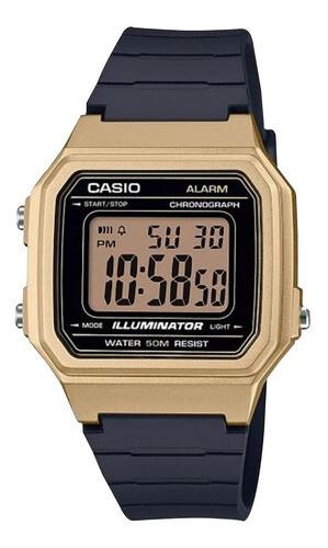 Reloj unisex casual Casio w-217hm-9av alarma diaria 7 años batería 50m water resist