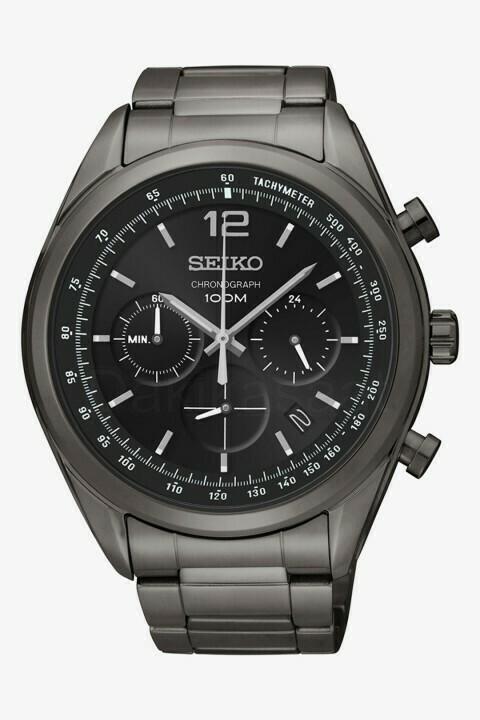 Reloj hombre Seiko Neosports SSB093P1 Chrono 45mm dial negro correa acero 100m water resist