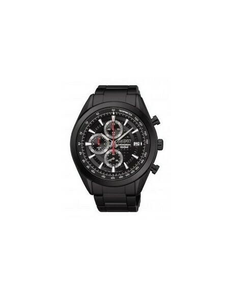 Reloj hombre Seiko Neosports SSB179P1 Chrono Gun steel bracelet 45mm black dial 100m water resist