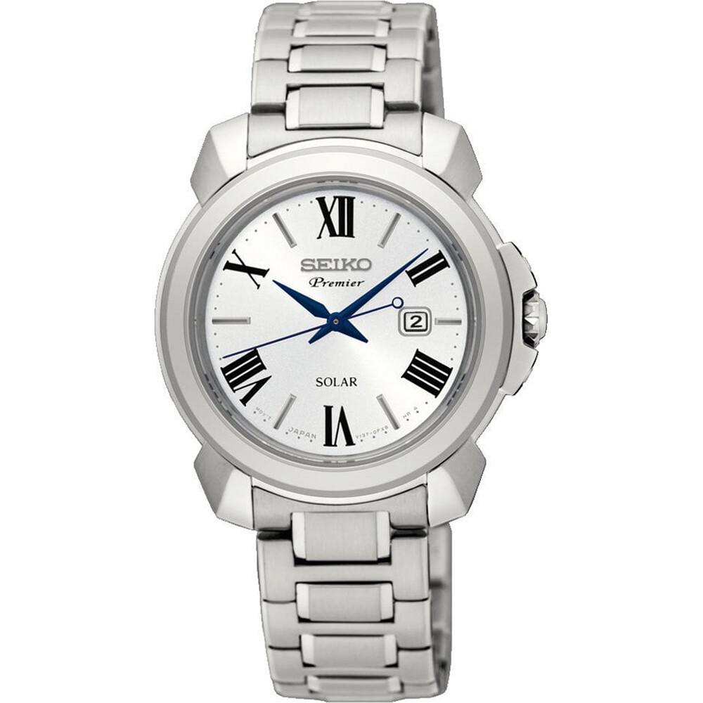 Reloj Mujer Seiko SOLAR PREMIER SUT321P1 31.5mm dial correa acero Cristal de zafiro 100m water resist