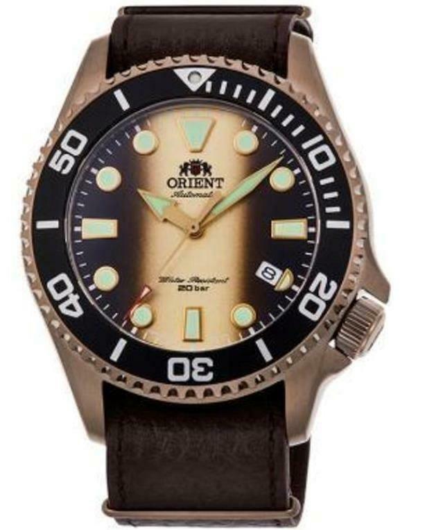 Reloj Automático Buceo Hombre Orient RA-AC0K05G Cristal Zafiro Limited Edition correa cuero