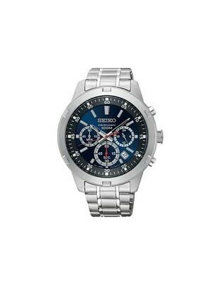 Reloj hombre Seiko Neosports Chrono SKS603P1 dial azul 43mm correa acero 100m water resist