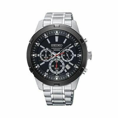 Reloj hombre Seiko Neosports SKS611P1 Chronograph 43mm dial negro 100m water resist correa acero