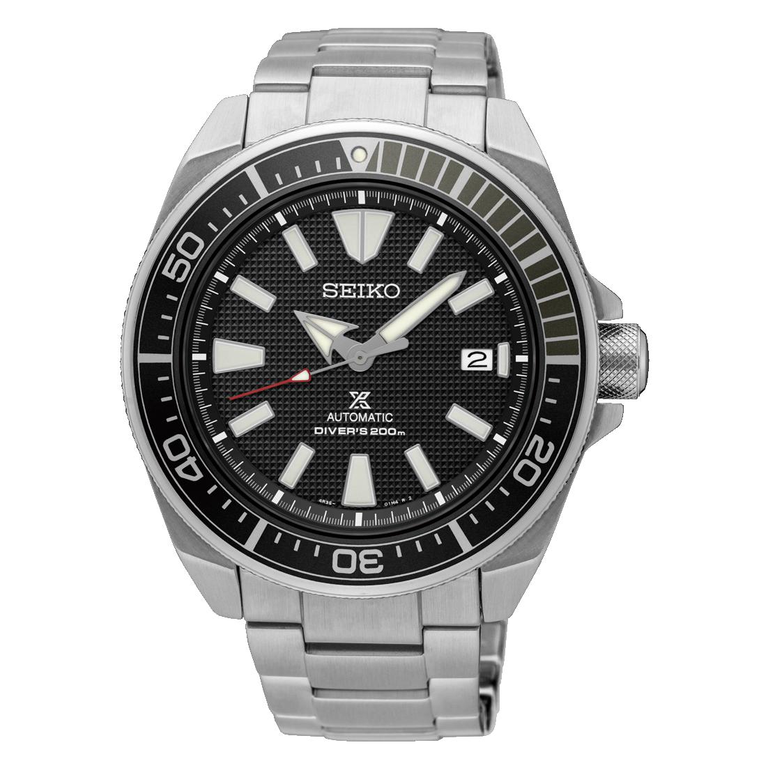Reloj Automático hombre Seiko Samurai Prospex SRPB51K1 dial negro 44mm correa acero 200m wr