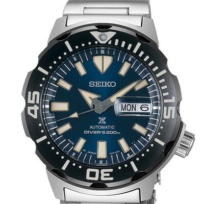 Reloj Automático hombre Seiko Prospex Monster SRPD25K1 dial azul 42.4mm correa acero 200m water resist