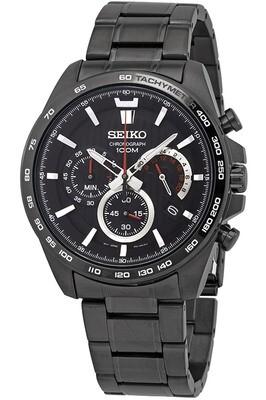 Reloj deportivo hombre Seiko Neosports SSB311P1 Chrono Lumibrite dial negro 44mm correa acero