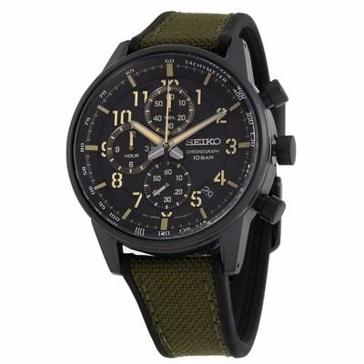 Reloj hombre deportivo Seiko Neosports SSB373P1 dial negro 42.7mm correa poliuretano 100m water resist