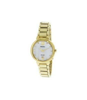 Reloj Solar mujer Seiko SOLAR SUP384P1 dial multicolor 30mm correa acero 50m water resist