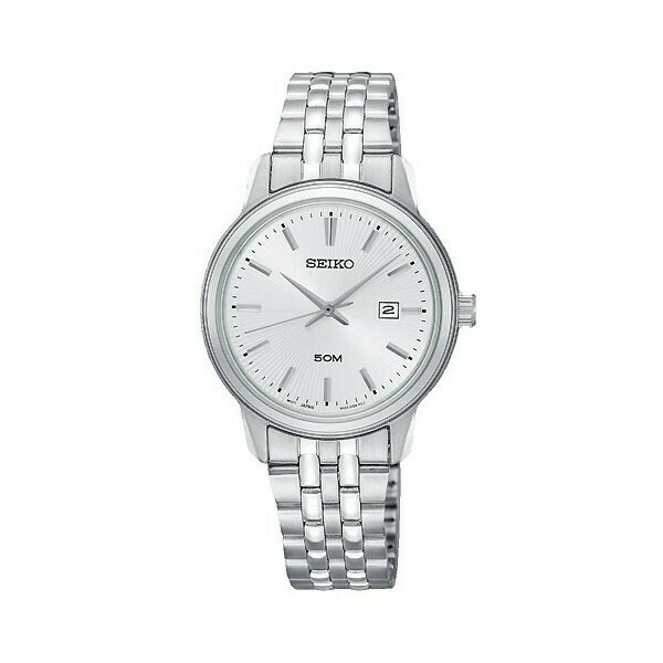 Reloj mujer Seiko SUR667P1 dial plata-blanco 30mm correa acero 50m water resist