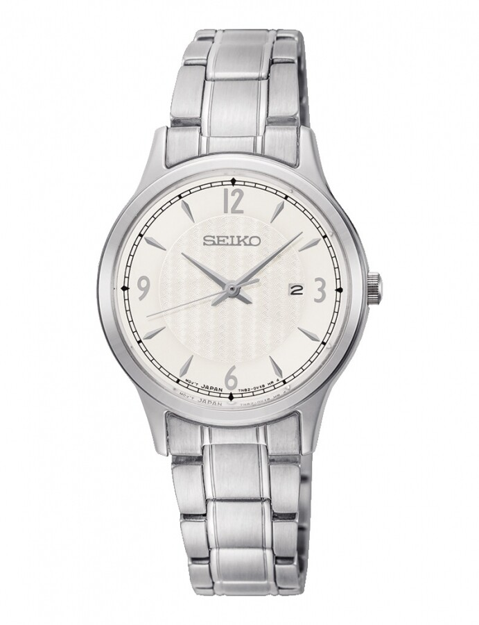 Reloj mujer Seiko Neoclassic SXDG93P1 dial blanco 29.7mm correa acero