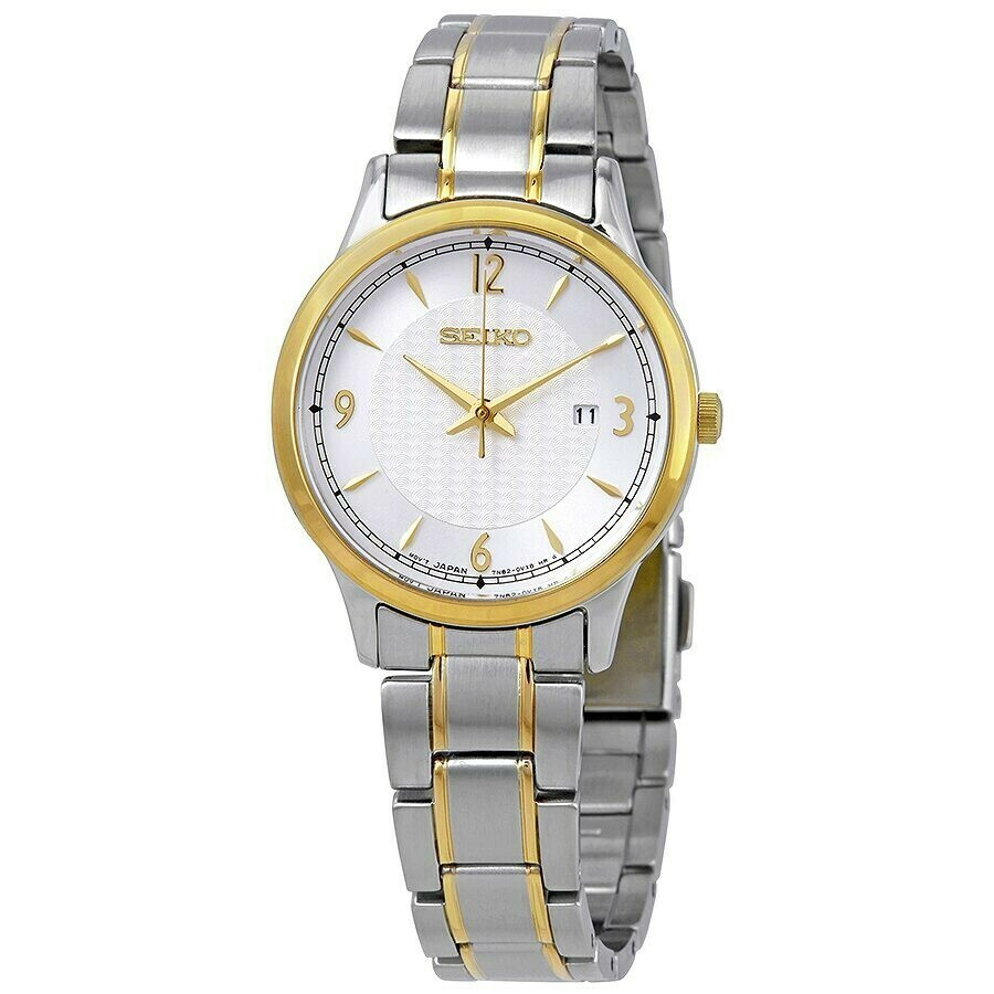 Reloj mujer Seiko Neoclassic SXDG94P1 dial blanco 29mm correa acero cuarzo