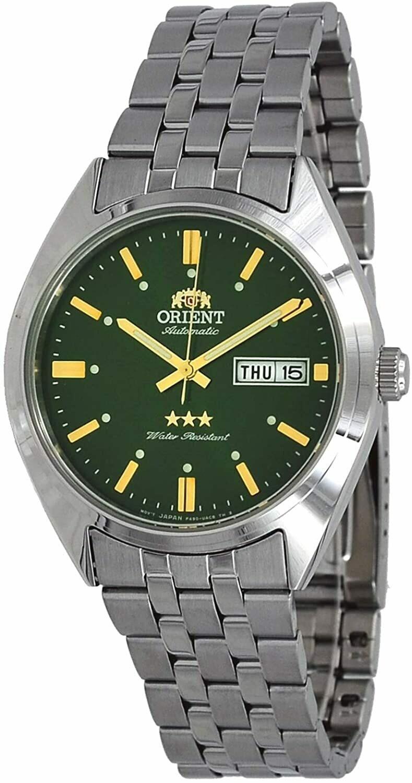 Reloj Automático hombre Orient Deneb RA-AB0E07E dial verde 39mm correa acero 30m WR
