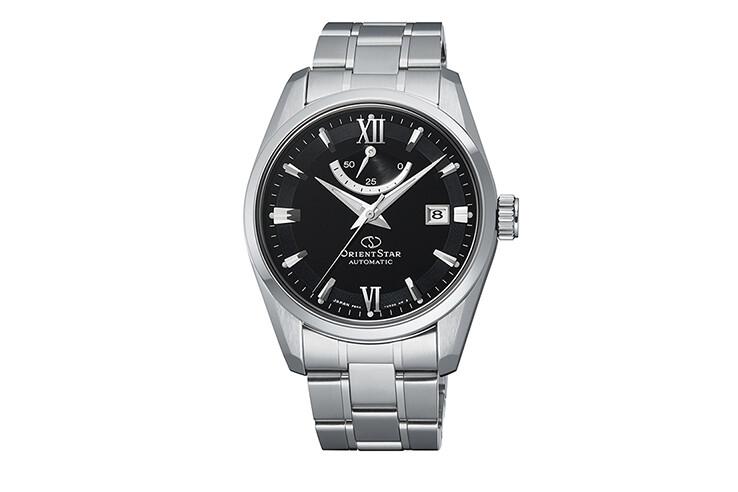 Reloj Automático hombre Orient Star RE-AU0004B dial negro cristal de zafiro correa de acero 100m WR