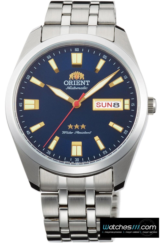 Reloj automático hombre Orient Deneb RA-AB0E08L dial azul 39mm correa acero