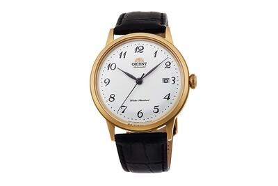 Reloj automático hombre Orient Bambino RA-AC0002S dial blanco 40.5mm Cuerda Manual correa cuero Hand-Hacking