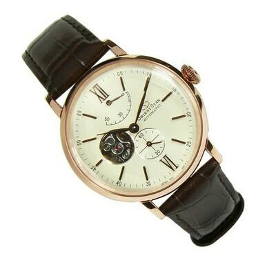 Reloj Automático hombre Orient Star RE-AV0001S oro rosa crista zafiro correa cuero Power Reserve 50H