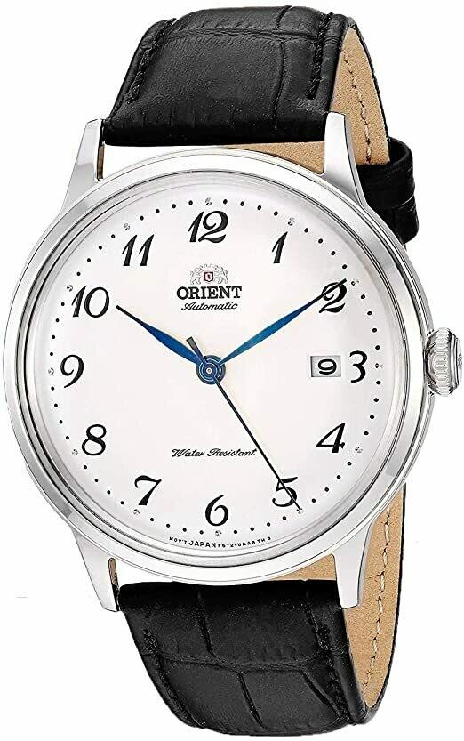 Reloj Automático hombre Orient Bambino Duke II RA-AC0003S Cuerda Manual dial plateado 40.5m correa cuero